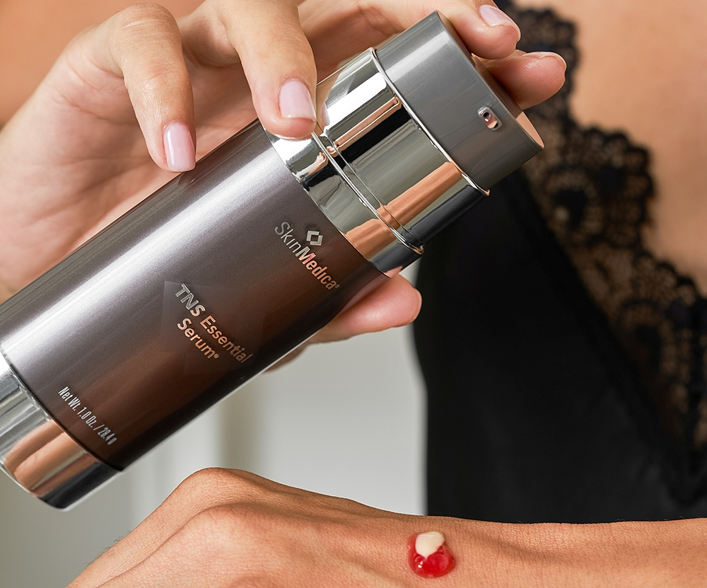 Fight the signs of skin aging with SkinMedica TNS Essential