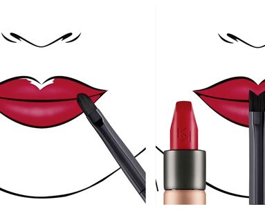 This Uniquely Shaped Brush Finally Makes a Perfect Lipstick Application Possible
