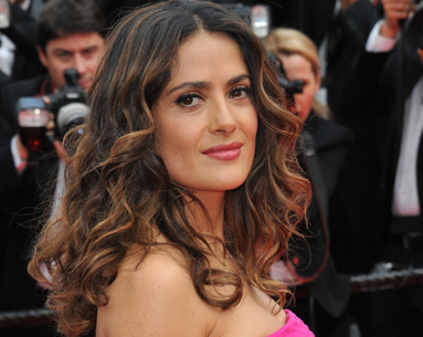 Salma Hayek Just Revealed to the World Exactly What Her Natural Hair Looks Like