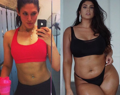 Plus Size Model Says Her 'Healthier-Looking' Before Photo Is Super Misleading