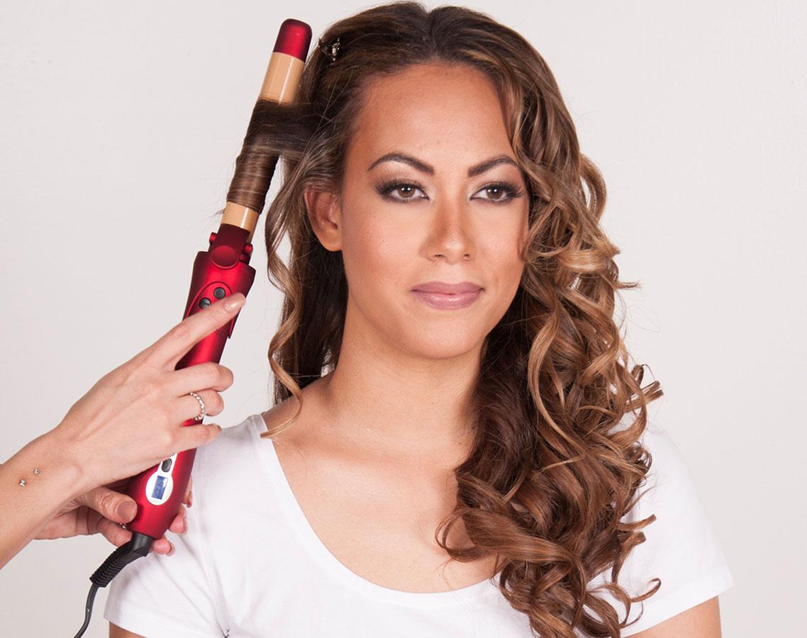 Spring Hair Tutorial Zoe Saldanas Wavy Textured Updo Celebrity