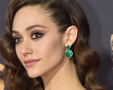 Emmy Rossum's Nude-Pink Lip at the Emmys Was Courtesy of This Drugstore Product—and It's Currently on Sale