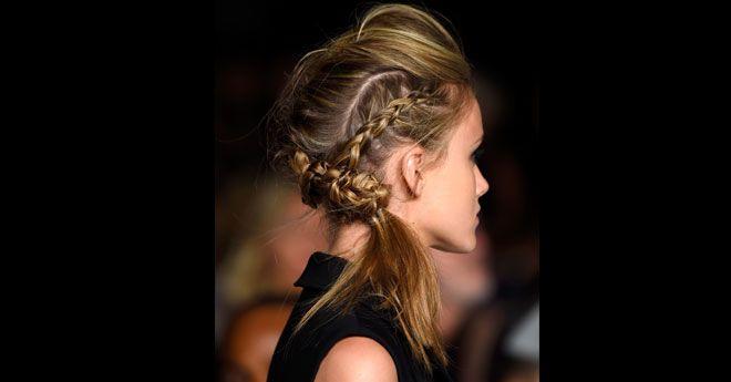 Fall Hair How To Braided Pompadour Tips Tutorials Hair