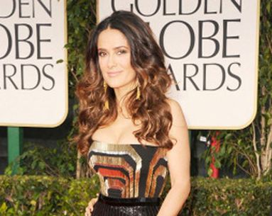 Get Salma Hayek's Gorgeous Golden Globes Hairstyle