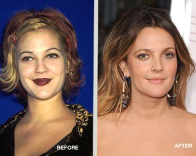 Celebrity Makeovers: Drew Barrymore The Beauty Chameleon