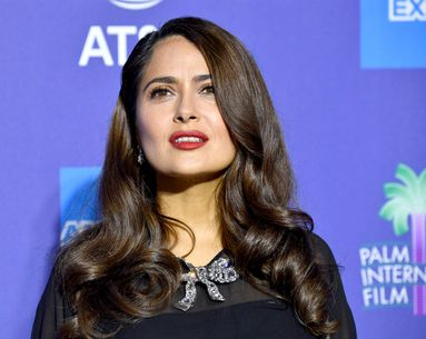 Salma Hayek's Matte Lipstick Look Is a Winter Mood