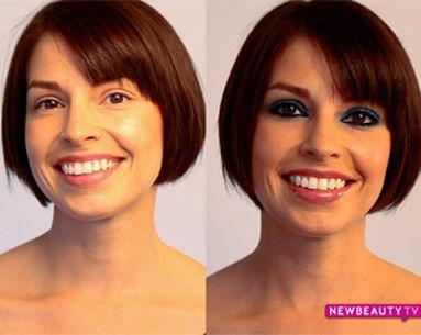 A Flattering Blue Eyeshadow Makeup Look For Brunettes