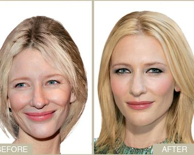 Cate Blanchett's Makeup Makeover