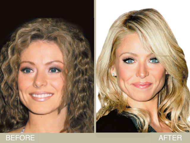 Kelly Ripa S Brown To Blonde Hair Makeover Newbeauty