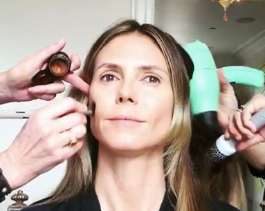 Heidi Klum's Time-Lapse Shows Every Step of Her Oscars Beauty Prep