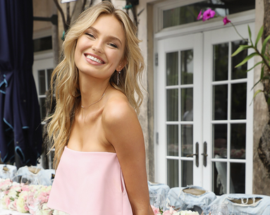 Victoria's Secret Angel Romee Strijd Says This Nude Lipstick Is Her Favorite for a Night Out
