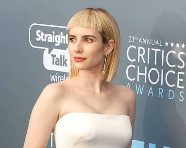 Emma Roberts Debuts a Super Short Fringe at the Critics' Choice Awards