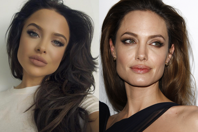 the angelina jolie look alike who s taking the internet by s news