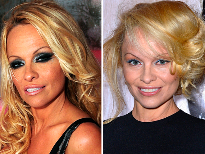pamela anderson makeover breast augmentation celebrity makeup