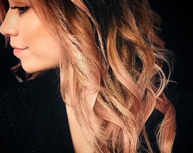 """Glitterage"" Is the Pretty, Sparkly Hair Color Trend That's Perfect for New Year's"