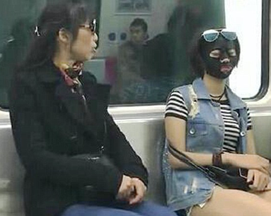 Woman Wears Face Mask on Work Commute, Doesn't Care What Others Think