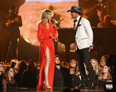 The Product That Helps Faith Hill Fake Super Toned, Glistening Legs