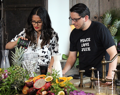 Salma Hayek Just Launched a Line of Smoothies That Double As Face Masks